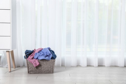 Curtain cleaning pickup delivery